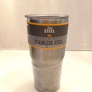 Raw Steel Double Wall 30oz Tumbler